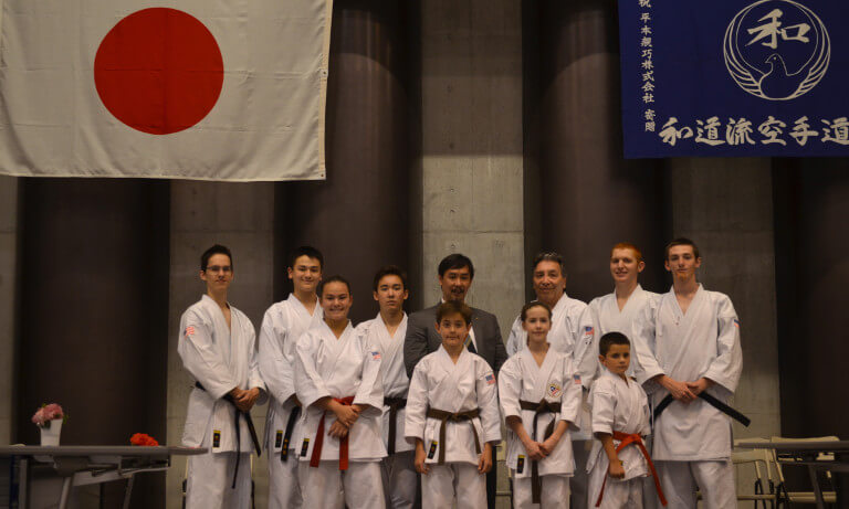 Japan Team with Grand Master Otsuka - 8th International Wado-Ryu World Championships