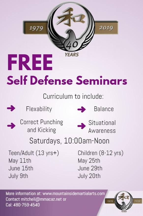 Free Self Defense Seminar 2019 - Mountainside Martial Arts
